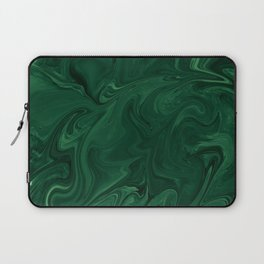 Modern Cotemporary Emerald Green Abstract Laptop Sleeve