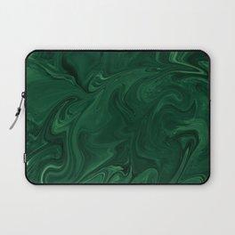 Modern Cotemporary Emerald Green Abstract Laptop Sleeve