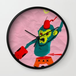 pobre chango con chacos Wall Clock
