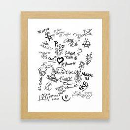 Graffitis Framed Art Print