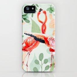 Flamingo Love iPhone Case