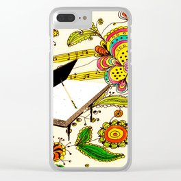 THE PIANO MAN AND THE FLOWERS Clear iPhone Case