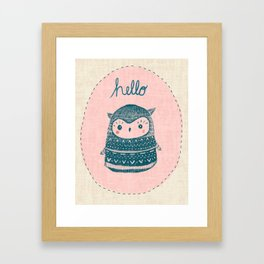 Friendly Owl Framed Art Print