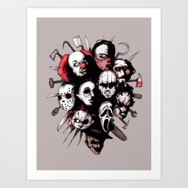 Horror Heroes Art Print