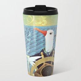 A-Z Animal, Albatross Quartermaster - Illustration Travel Mug