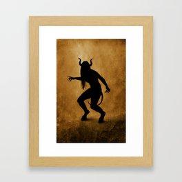 Demon silhouette Framed Art Print
