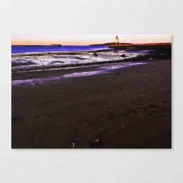 #MAINE Sunset at Spring Point Ledge Lighthouse Canvas Print