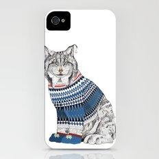 Christmas Lynx // Festive Furries No.1 Slim Case iPhone (4, 4s)
