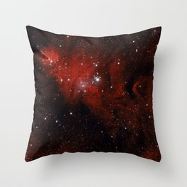 Christmas tree Nebula 1 Throw Pillow