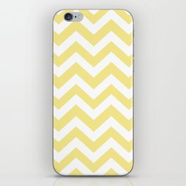 Flavescent[2] - yellow color - Zigzag Chevron Pattern iPhone Skin