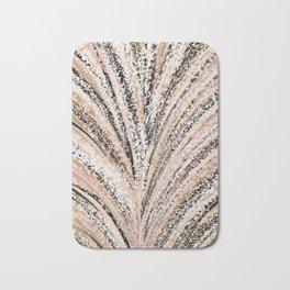 Rose Gold and Glitter Brushstroke Bursts Bath Mat