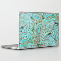paisley Laptop & iPad Skins featuring paisley, paisley by Ariadne