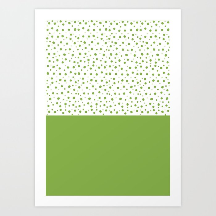 Sunday's Society6 | Greenery dots color block art print