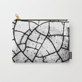 Crackled texture Carry-All Pouch