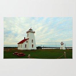Lighthouse and Range Light of Wood Islands Rug