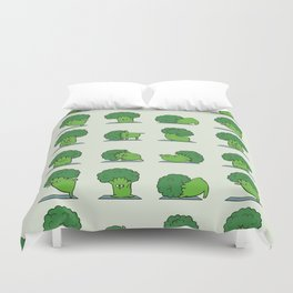Broccoli Yoga Duvet Cover