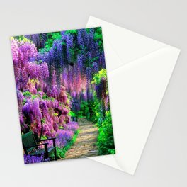 Wisteria garden Stationery Cards