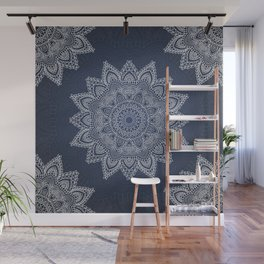 Blue mandala tibetan pattern Wall Mural