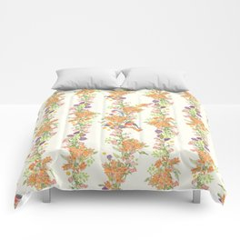 Romantic Vintage Design of Birds & Flowers - Natural colorful Comforters