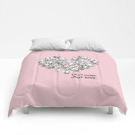 Just Love. (black text) Comforters