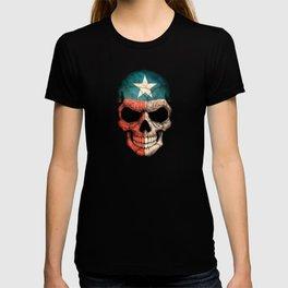 Dark Skull with Flag of Texas T-shirt