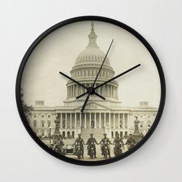 Vintage Motorcycle Police - Washington DC Wall Clock