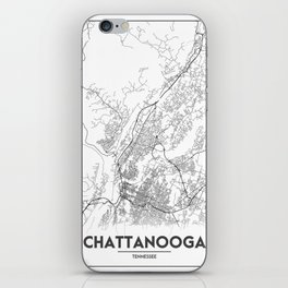 Minimal City Maps - Map Of Chattanooga, Tennessee, United States iPhone Skin