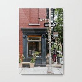 Picturesque restaurant in Greenwich Village, New York Metal Print