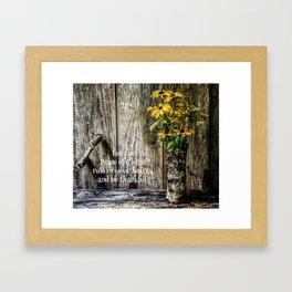 Summer Thankfulness Framed Art Print