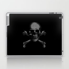 Hacker Skull and Crossbones Laptop & iPad Skin