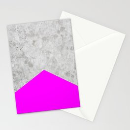 Concrete Arrow - Neon Purple #728 Stationery Cards