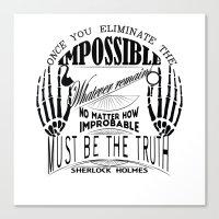 sherlock holmes Canvas Prints featuring Sherlock Holmes by Leti & fishhorse