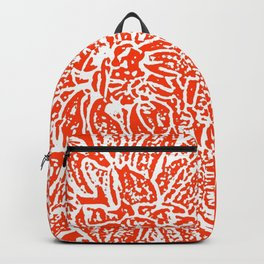 Dahlia Lino Cut, Fiery Red Backpack