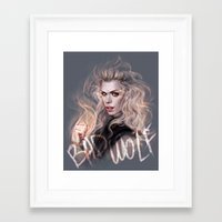 bad wolf Framed Art Prints featuring Bad Wolf by jasric
