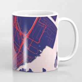 Elizabeth, NJ, USA, Blue City Map Coffee Mug