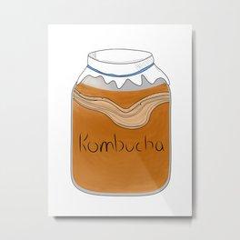 Kombucha Booch Vegan Metal Print