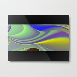 Abstract Rainbowart in retrostyle 8 Metal Print