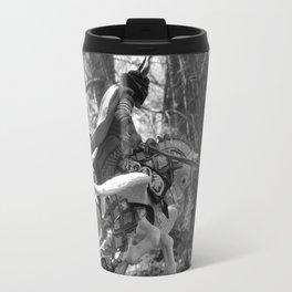 Knight riding through the forest Travel Mug