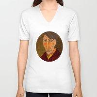 van gogh V-neck T-shirts featuring Pablo van Gogh by Marko Köppe