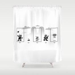 Krazy Cat Shower Curtain