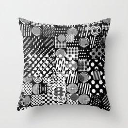 Halftone Collage Throw Pillow