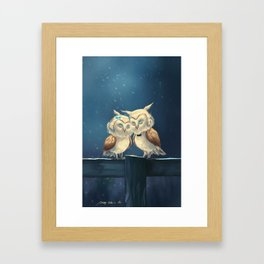 owl in love Framed Art Print