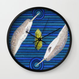 The Narwhal and the Peridot Wall Clock