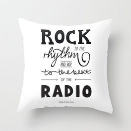 Kings of Leon hand-lettered print Throw Pillow