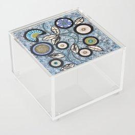Lovely Flowers Blue Acrylic Box