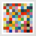 Haumea - Abstract Colorful Pixel Patchwork Art by alphaomega