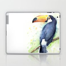 Toucan Tropical Bird Watercolor Laptop & iPad Skin