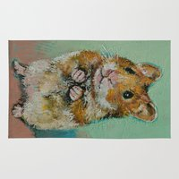 hamster Area & Throw Rugs featuring Hamster by Michael Creese