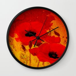 FLOWERS - Mellow yellow Wall Clock