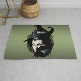 Maleficient and the crows Rug
